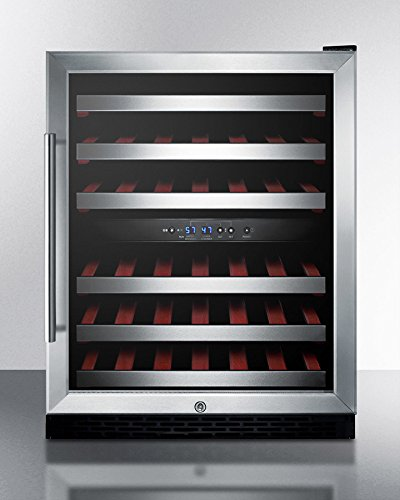 Summit Commercial SWC530LBISTADA ADA Compliant Dual Temp Zone Reach-In Wine Refrigerator,