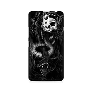 Mobicture Skull Abstract Premium Printed Case For Lenovo Vibe P1M
