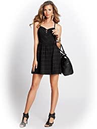 GUESS Women's Lace-Up Corset Dress