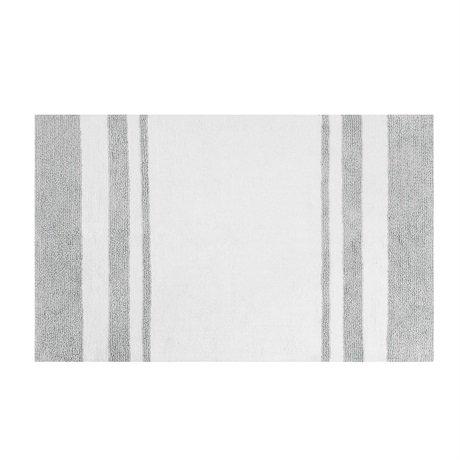 Madison Park Spa Cotton Reversible Bath Rug - Grey - 20x30