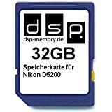 DSP Memory Z-4051557365773 32GB Speicherkarte für Nikon D5200