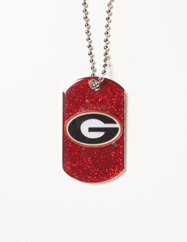 NCAA Georgia Bulldogs Glitter Dog Tag (Georgia Bulldog Pendant compare prices)
