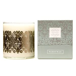 Paddywax Luxe 20-Ounce Poured Glass Candle, Paperwhite