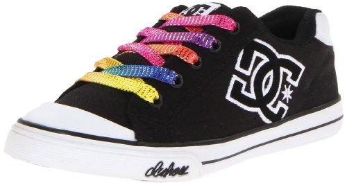 Dc Chelsea Canvas Skate Sneaker (Little Kid/Big Kid),Black/White,11 M Us Little Kid front-1015753