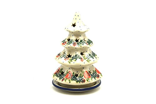 Polish Pottery Christmas Tree with Plate - 6