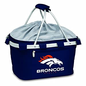 NFL Denver Broncos Metro Insulated Basket, Navy by Picnic Time