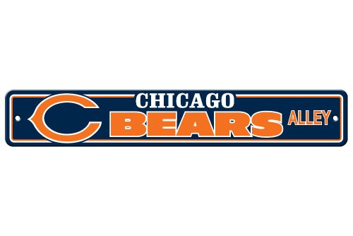 NFL Chicago Bears Plastic Street Sign