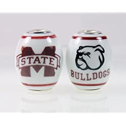 Mississippi State Bulldogs Large Glass Bead Fits Most Pandora Style Bracelets