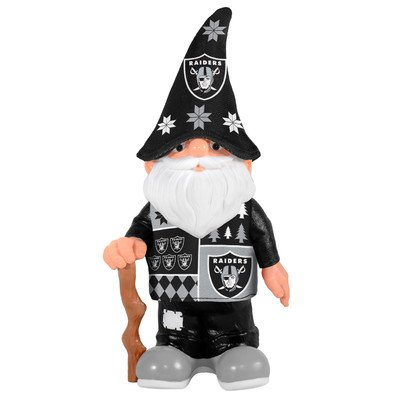 NFL Oakland Raiders Real Ugly Sweater Gnome - Busy Block, Black