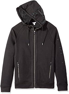 Calvin Klein Men's Long Sleeve Fabric Blocked Printed Pullover Hoodie