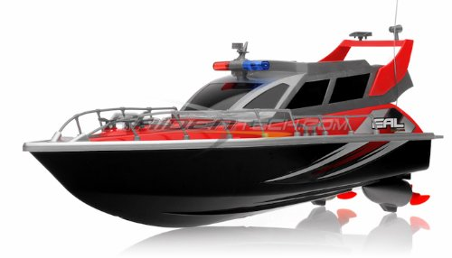Electric Full Function QUALITY Big Size Remote Control 4 CHANNEL Patrol Craft Police Airship RTR RC Boat W/ Rechargeable Batteries (Colors May Vary)
