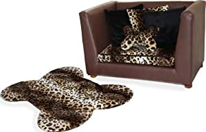 Fantasy Furniture Deluxe Orthopedic Memory Foam Dog Bed Set, Medium, Leopard