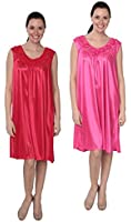 Designed For You Women's Tricot Sleeveless Long Nightgown