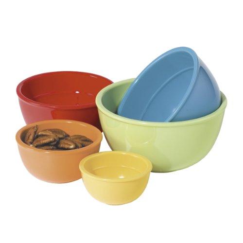 Oggi Melamine 5-Piece Measuring Bowl Set, Assorted Colors