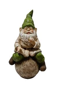 Alpine Gnome on Ball Statue