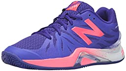 New Balance Women\'s Wc1296v2 Tennis Shoe Blue/Guava, 10.5 B US