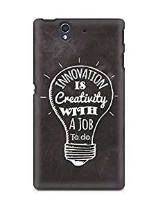 Amez Innovation is Creativity with a Job to do Back Cover For Sony Xperia Z