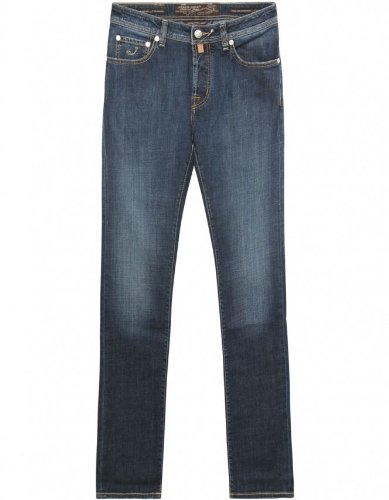 Jacob Cohen Men's Pants Blue Mid Wash Straight Leg Jeans 34/L