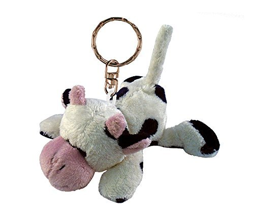 Puzzled Cow Plush Keychain