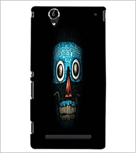 PrintDhaba Art Skull D-1265 Back Case Cover for SONY XPERIA T2 ULTRA (Multi-Coloured)