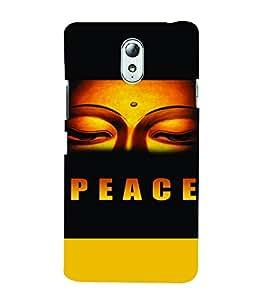 PrintVisa Religious & Spiritual Buddha Peace 3D Hard Polycarbonate Designer Back Case Cover for Lenovo Vibe P1M