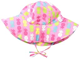 i play. Baby Girls\' Classic Brim Sun Protection Hat, Pink Pineapple, Infant/6 18 Months