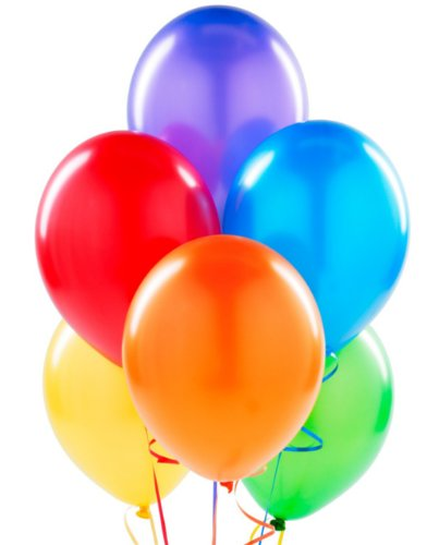 Assorted Color Helium Balloons