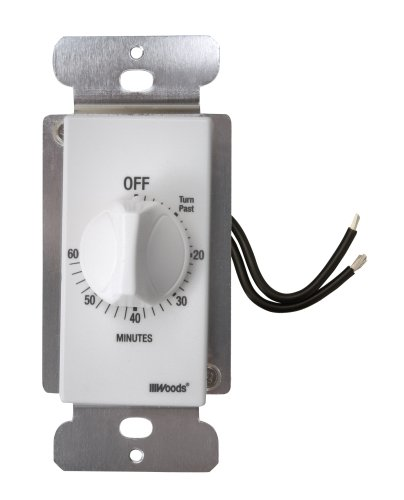 Woods 59717 60-Minute In-Wall Spring Wound Countdown Timer, Mechanical Switch, White (Wall Timer For Fan compare prices)