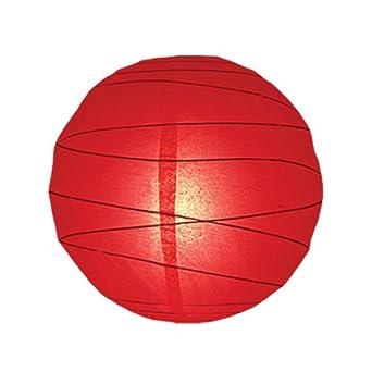 boule en papier Rouge 35,5 cm: Luminaires et Eclairage