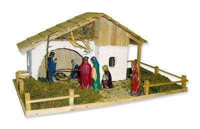 alpenl ndische weihnachtskrippe bausatz zum selberbauen k83265. Black Bedroom Furniture Sets. Home Design Ideas