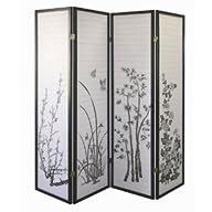 Legacy Decor Black 4-panel Bamboo Flo…