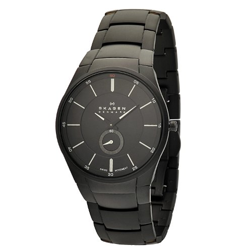 Skagen Men's 924XLBXB Black Label Black Bracelet, Black Dial Watch