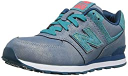 New Balance KL574P Mineral Glow Classic Running Shoe (Little Kid), Teal, 13.5 M US Little Kid