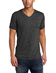 Threads 4 Thought Men's Triblend V-Neck Tee, Heather Black, X-Large