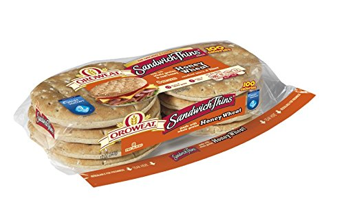 Oroweat Sandwich Thins Honey Wheat Pre-sliced 8 per package (Pack of 2) (Pre Made Sandwiches compare prices)