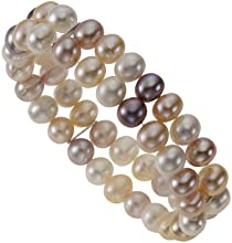 Zeeme Perles 380260007-1 - Pulsera de mujer de plata de ley con perla de agua dulce, 19 cm
