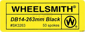 Wheelsmith 2.0/1.7 x 256mm Black Spokes. Bag of 50.