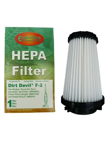 (25) Dirt Devil Dynamite F2 Royal Pleated Hepa Filter, Quick Vac, Flip Stick, Jaguar Powe, Power Reach, Reconditioned Dynamite Vacuum Cleaners, 3Sfa11500X, 3-Sfa115-00X. Replaces Dirt Devil Part # 2Sfa115000 / 2-Sfa115-000