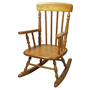 Gift Mark Deluxe Childrens Spindle Rocking Chair Honey by Gift Mark