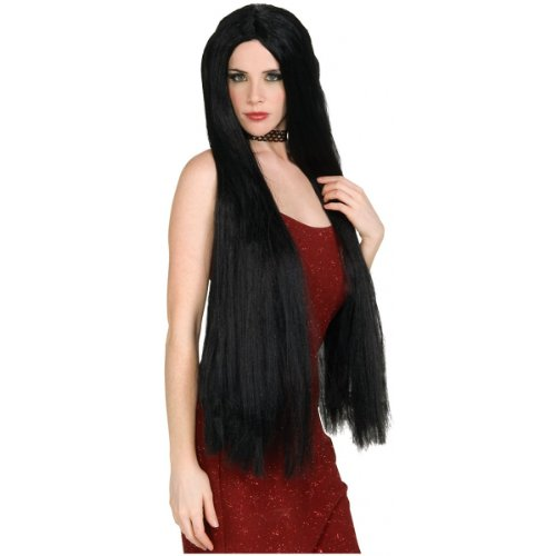 36 inch Long Black Witch Wig Costume Accessory