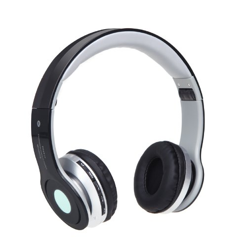Anself Foldable Bluetooth Stereo Wireless Headphone Rechargeable Headset Earphone Mp3 Player With Fm Radio Function Mic Fm Tf Slot For Iphone5/5S/5C/4S/4,Ipad,Ipod,Samsung Galaxy, Htc,Pc (Blue)
