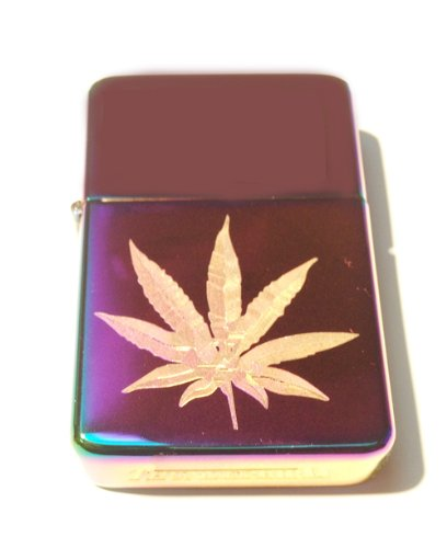 Vector KGM Thunderbird Custom Lighter - Marijuana Pot Weed Ganja Leaf Logo High Polish Rainbow Color Prism Rare!