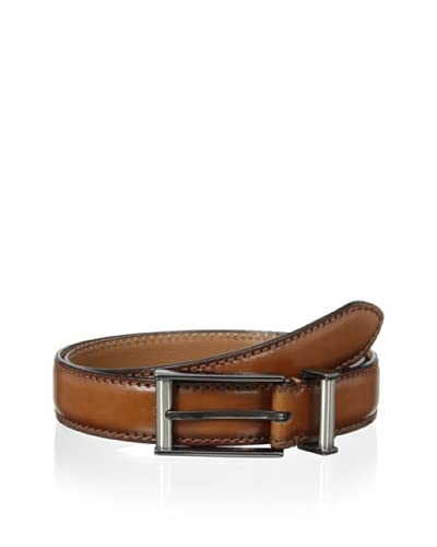 J. Campbell Los Angeles Men's Metal Keeper Stitched Leather Belt