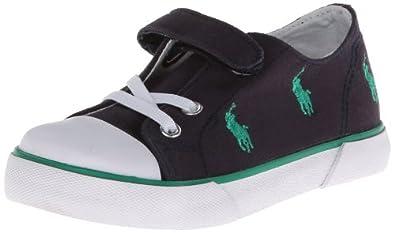 Polo Ralph Lauren Kids Bal Harb Captoe Captoe High Top Sneaker (Toddler),Navy/Green,4 M US Toddler