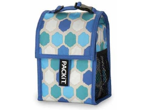 Double Baby Bottle Bag Blue Dot