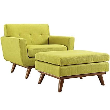 LexMod EEI-2187-WHE-SET 2 Piece Engage Sectional Sofa, Wheatgrass