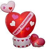 Animated eight Foot valentines Day blow up Hearts backyard Decoration -- Top coronary heart Rotates