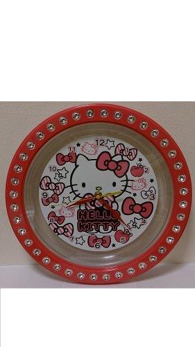 HELLO KITTY ジュエリーウォールク lock / [wall clocks] Ribbon pink