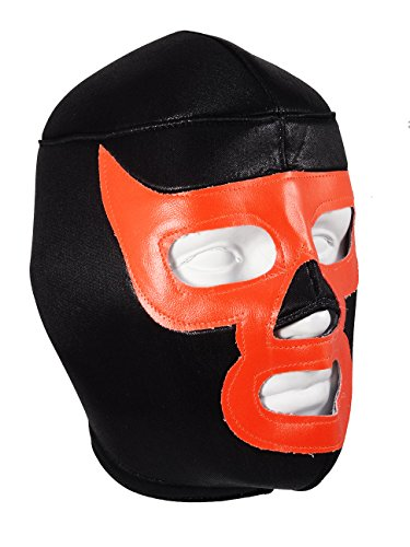 Luchador Demon Adult Lucha Libre Wrestling Mask (pro-fit) Costume Wear - Black/Orange