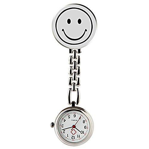 HIwatch Nurses Smile Digital Analog Lapel Pocket Watch (Watch Clip compare prices)